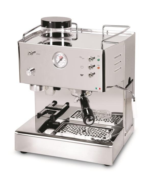 Quick Mill 3035 Pegaso Espressomaschine mit integriertem Mahlwerk - Kaffeemühle.