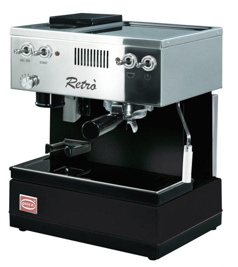 QuickMill 0835 Retro, Espressomaschine mit Mahlwerk.
