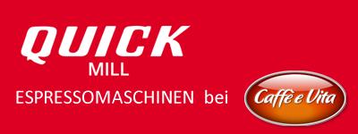 QuickMill Espressomaschinen bei Caffeevita Köln.
